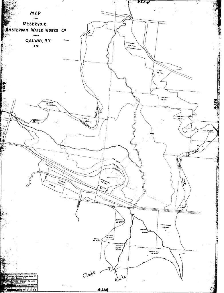Map of Galway Lake 1875